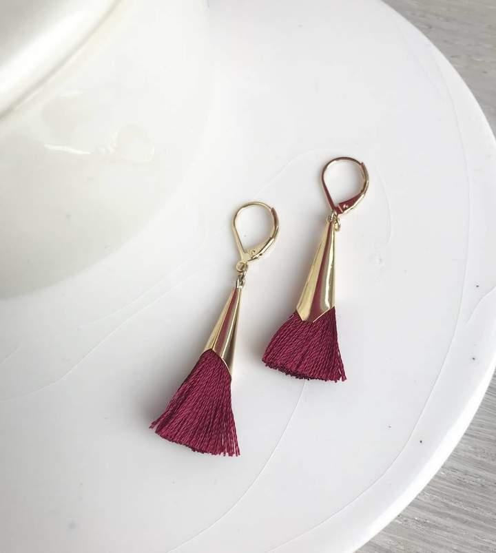 La Belle et la Bete Tassel Earrings