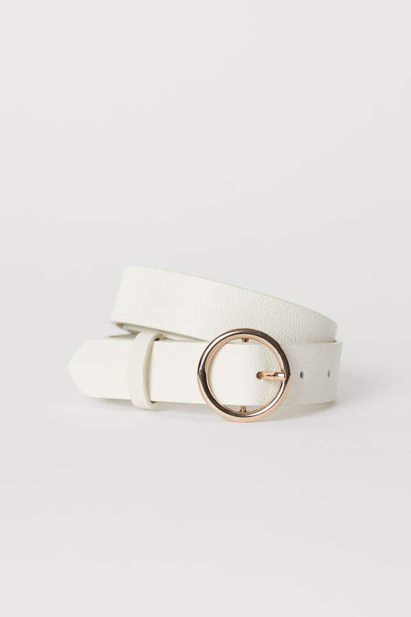 H&M - Belt - White
