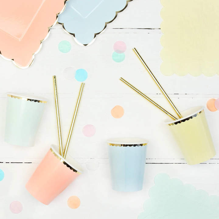 Postbox Party Pastel And Gold Party Cups