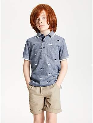 John Lewis & Partners Boys' Polo Shirt, Dark Blue