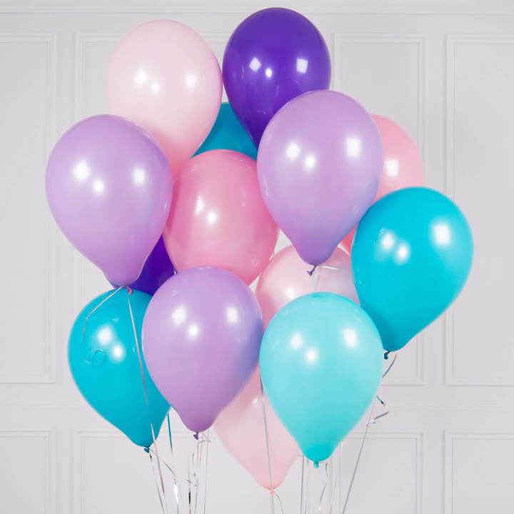 Bubblegum Balloons Pack Of 14 Mermaid Party Balloons