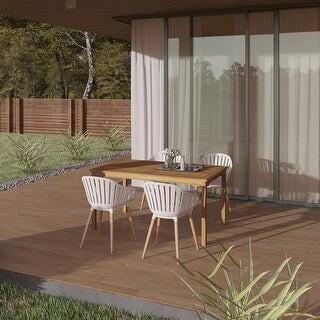 collins teak 5 piece 7 piece outdoor rectangular dining table set