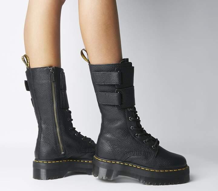Dr. Martens Jagger Platform Boots Black Aunt Sally