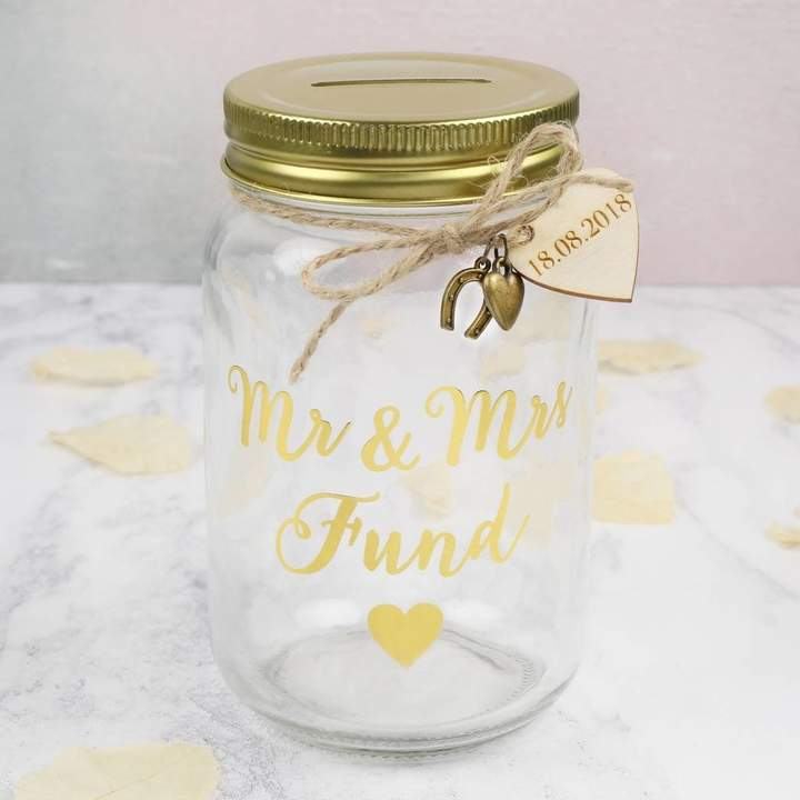 Lisa Angel Personalised 'Mr And Mrs Fund' Money Jar