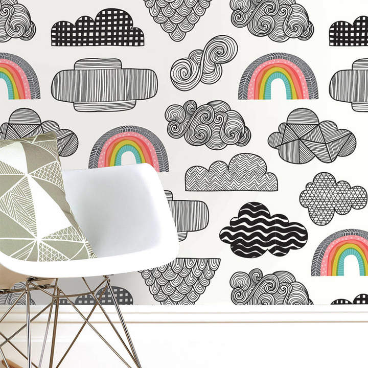 Sian Elin Clouds And Rainbows Wallpaper