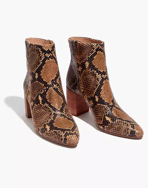 fashion boots - The Fiona Boot in Snake Embossed Leather - click to shop