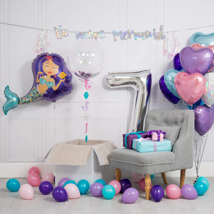 Bubblegum Balloons Inflated Mermaid Birthday Morning Package