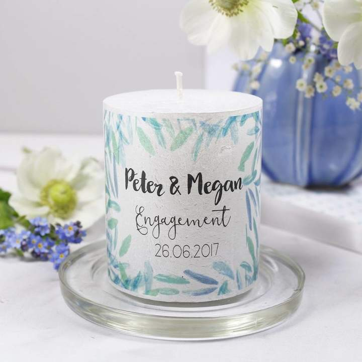 Olivia Morgan Ltd Engagement Personalised Patterned Candle