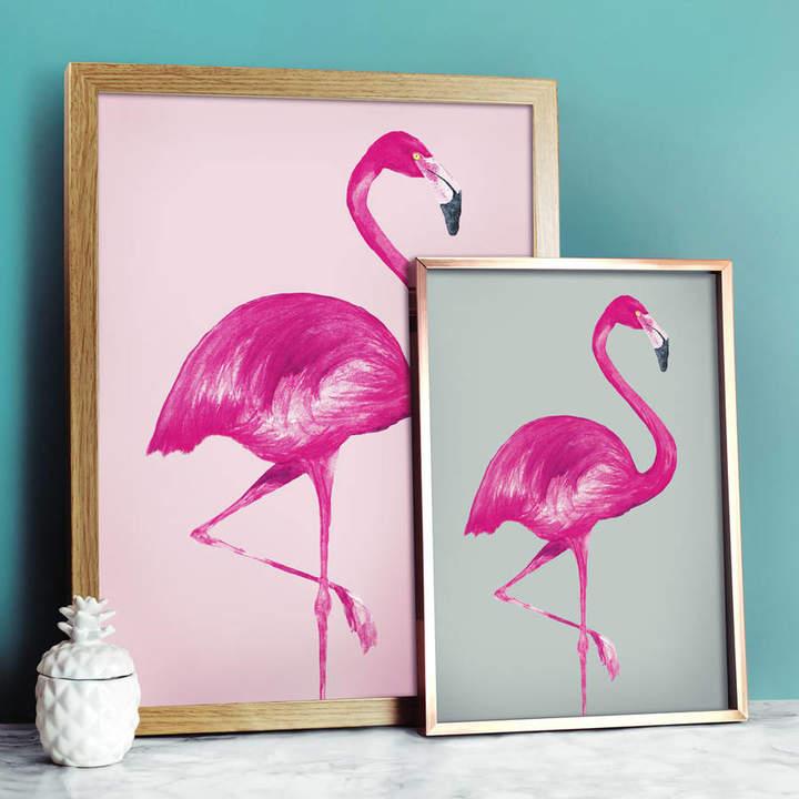 Paper Plane Flamingo Print Pastel Collection