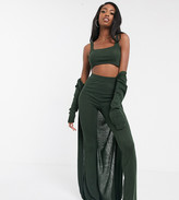 ASOS DESIGN Tall exclusive lounge 3 piece set cami trouser and cardigan