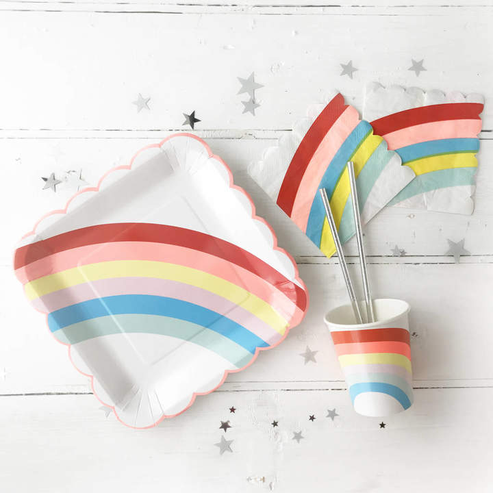 Postbox Party Unicorn Party Rainbow Tableware Set