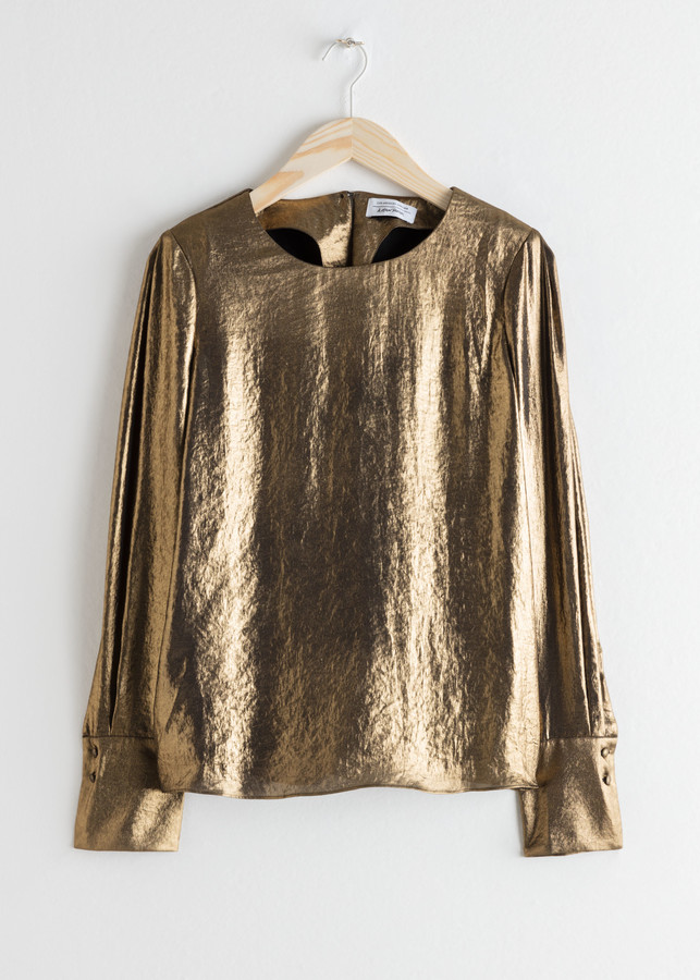 And other stories Metallic Satin Blouse
