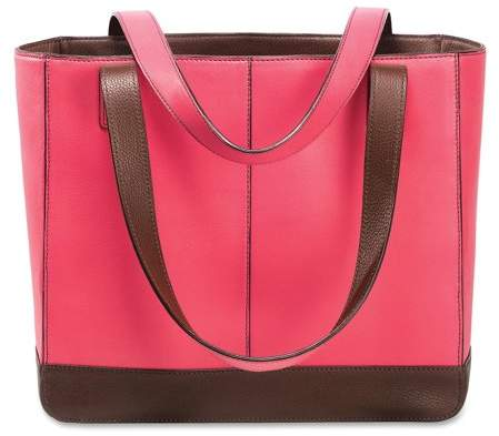 Day-Timer, DTM48420, Pink Ribbon BCA Leather Tote, 1, Pink