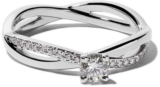 Platinum My First De Beers Infinity solitaire diamond ring
