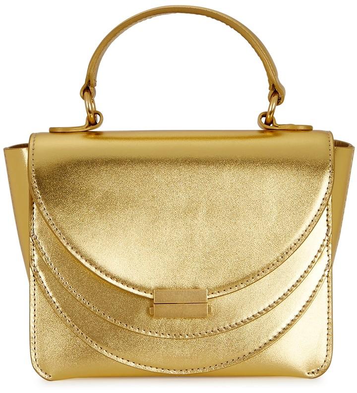 Wandler Luna Mini Gold Leather Cross-body Bag