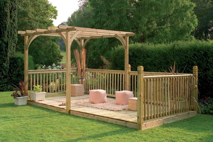 Forest Garden Forest Ultima Pergola & Patio Decking Kit