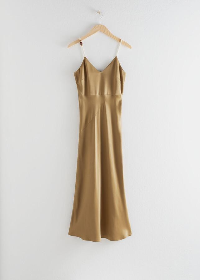 & Other Stories Rope Strap Midi Slip Date Night Dress