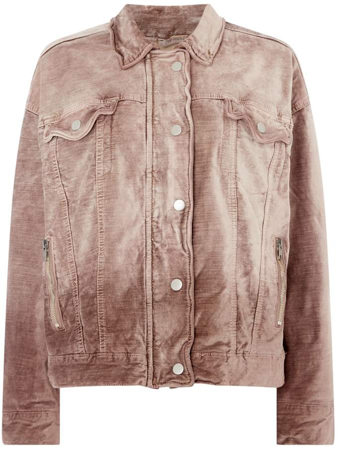 Free People Velvet Tucker Jacket