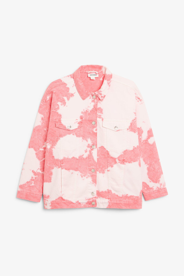 Monki Tie-dye denim jacket