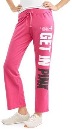 Susan G. Komen Women's Athleisure French Terry Graphic Varsity Sweatpants