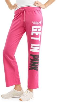 Susan G. Komen Women's Athleisure French Terry Graphic Varsity Sweatpants