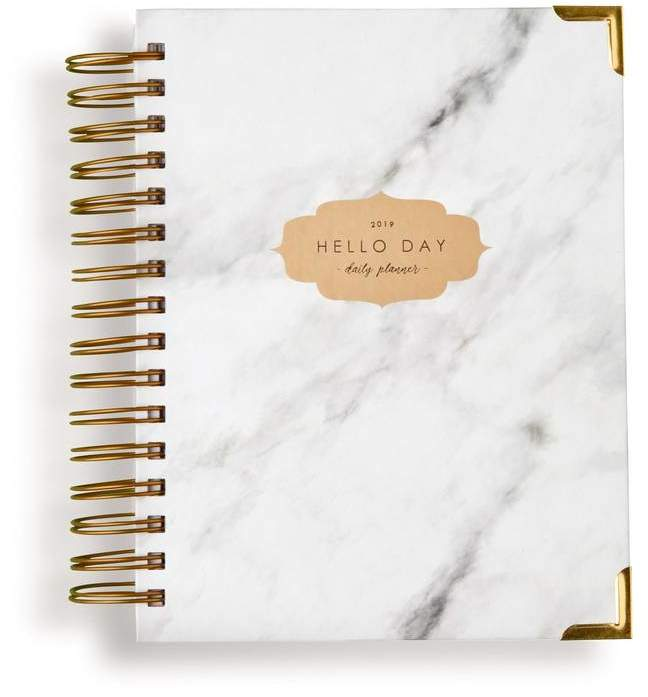 Hello Day Original 2019 Daily Planner: Carrara