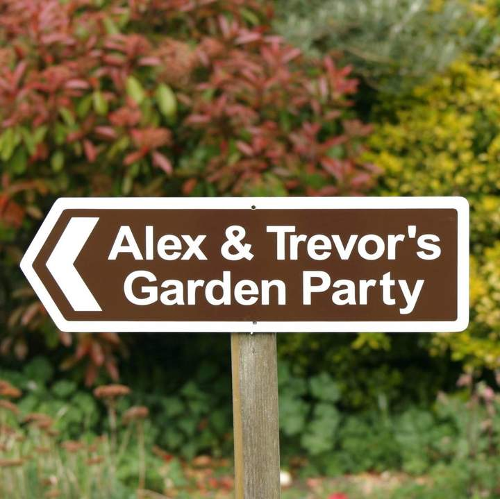 England Signs Personalised Garden Party Sign