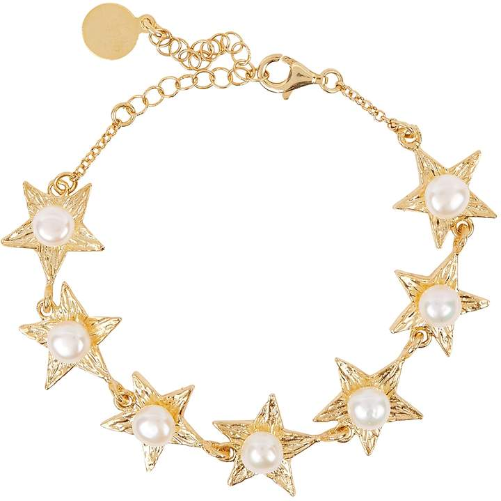 Soru Jewellery Pleiades 18kt Gold-plated Bracelet