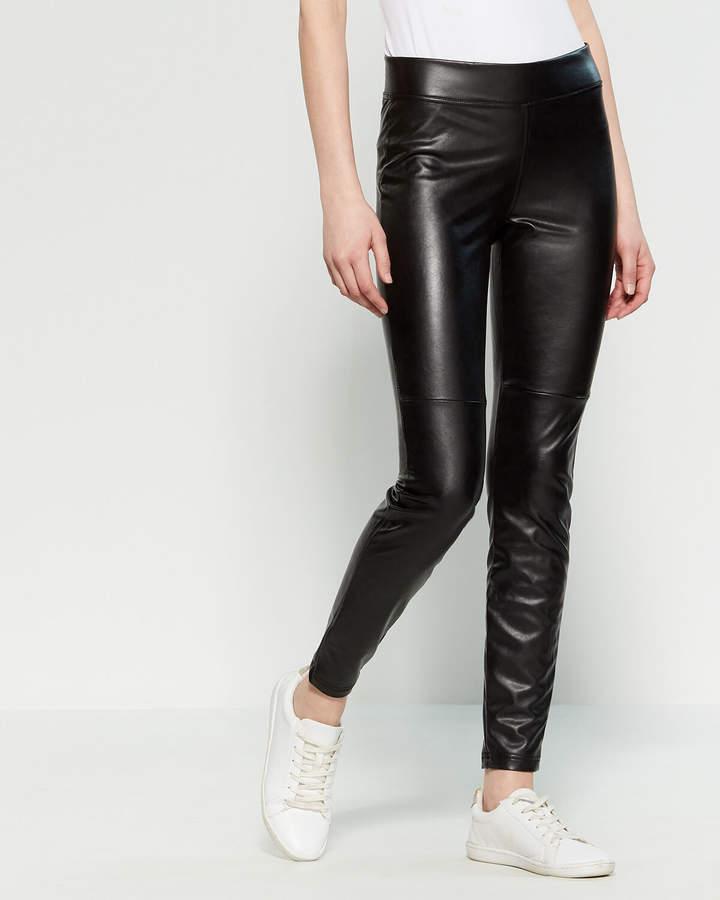 Hue Black Leatherette Leggings
