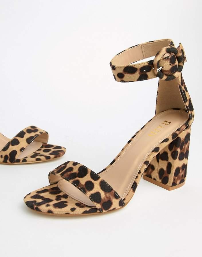 Raid RAID Genna leopard print block heeled sandals