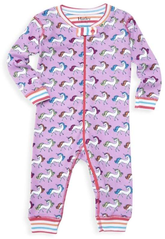 Hatley Baby Girl's Rainbow Unicorns One-Piece Pajamas