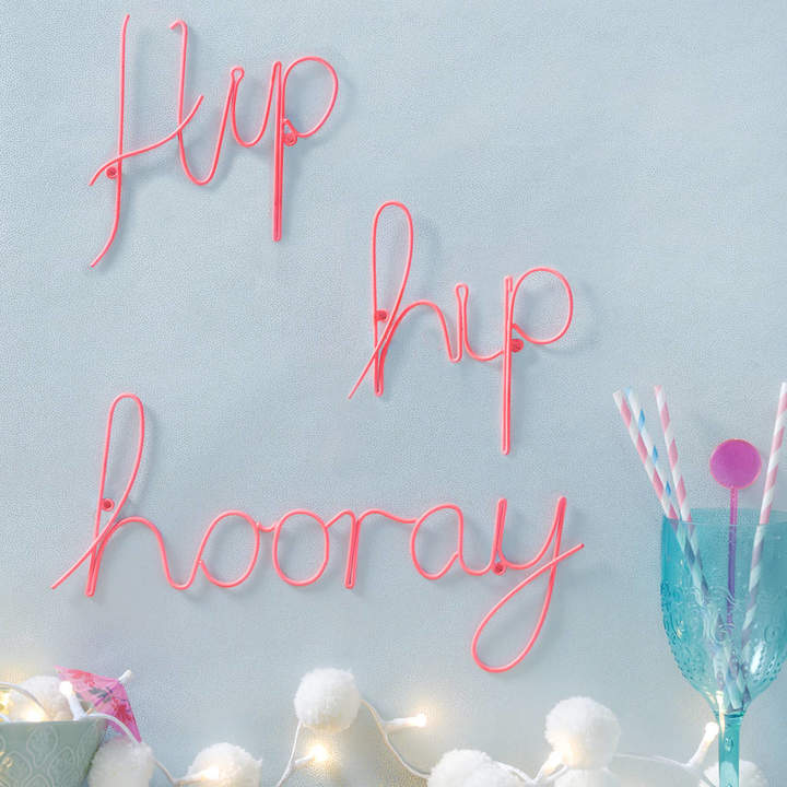 The Letteroom Hip Hip Hooray Pink Wire Wording