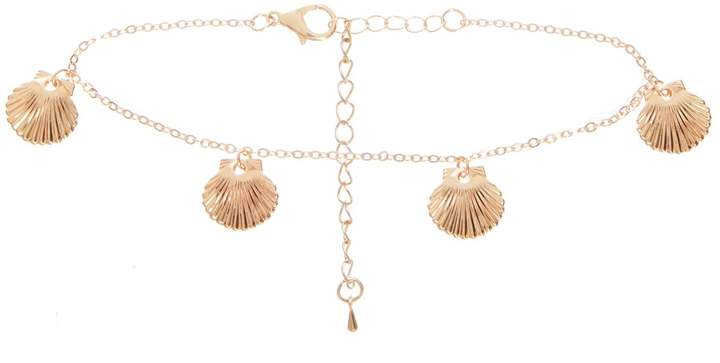 Quiz Gold Shell Anklet