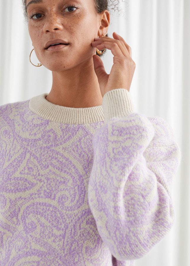 And other stories Paisley Jacquard Knitted Sweater