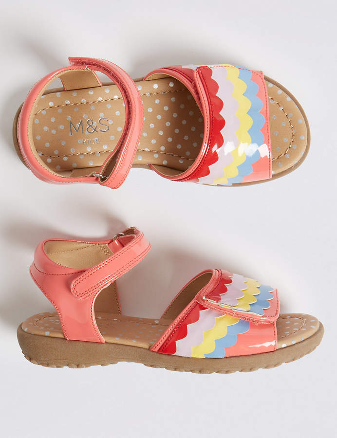 Marks and Spencer Kids Rainbow Sandals (5 Small - 12 Small)
