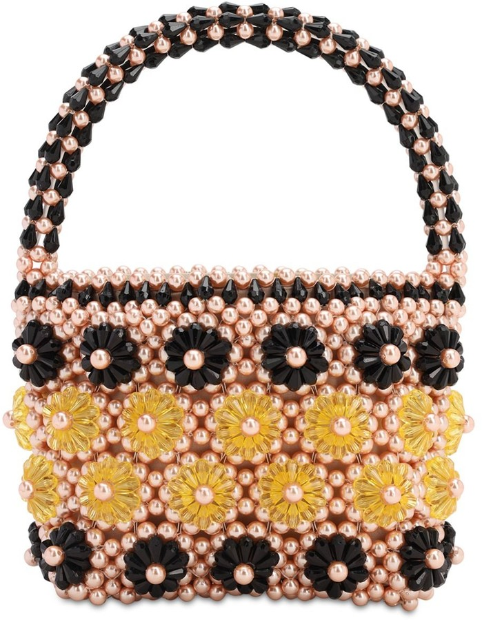 Shelly Beaded Top Handle Bag