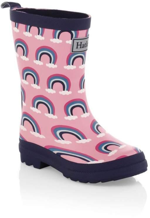 Hatley Kid's Pretty Rainbows Rain Boots