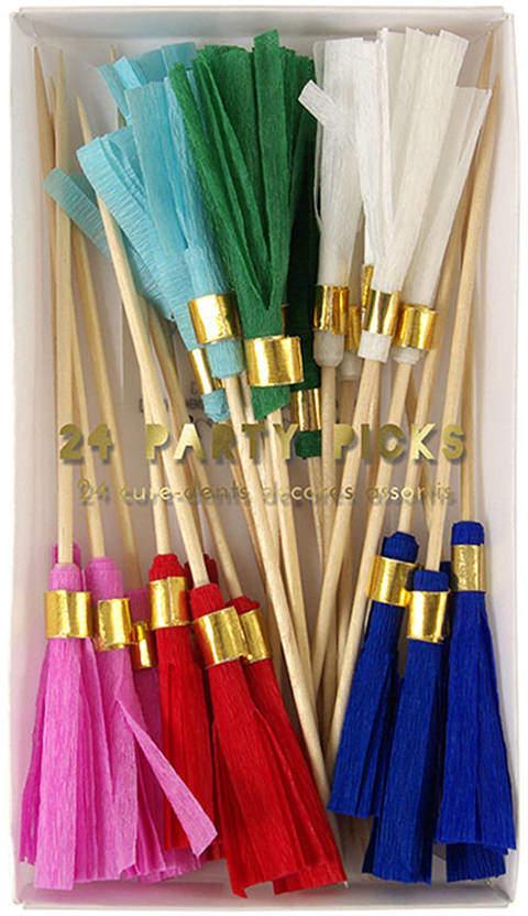 Little Lulubel Colored Tassel Party Picks