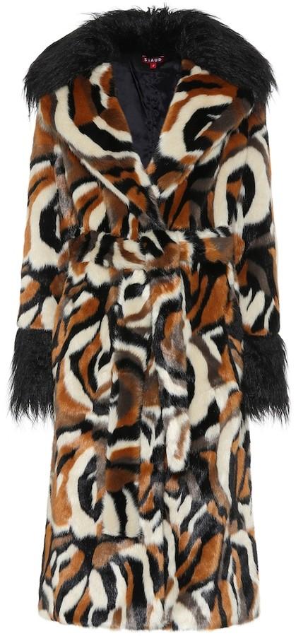 Staud Faux fur coat