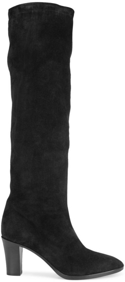 Thanksgiving Outfit - Suede Knee-High Boots