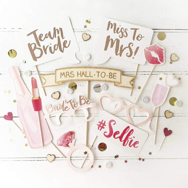 Postbox Party Hen Party Rose Gold Photo Booth Props