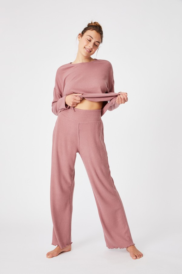 Dusty rose relaxed lounge pant from Cotton On