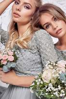 Grey 3/4 Length sleeve Midi Dress