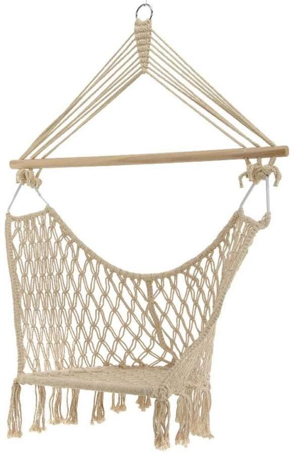 Ella James Cream Macrame Hanging Chair