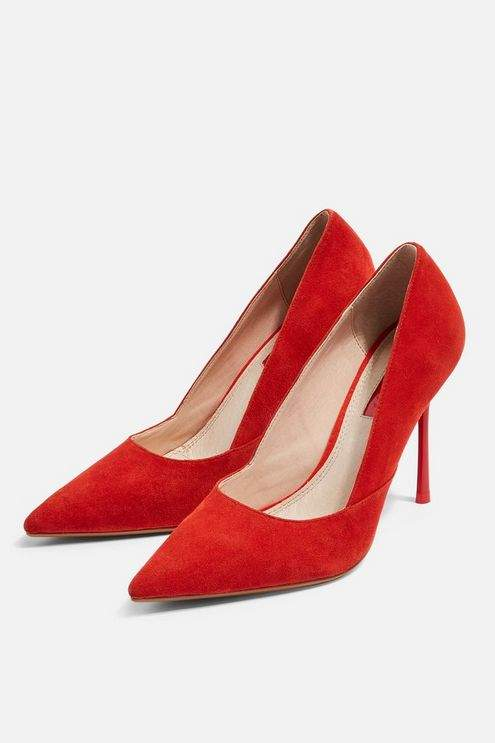 Topshop Womens **Wide Fit Gigi Red Court Shoes - Red