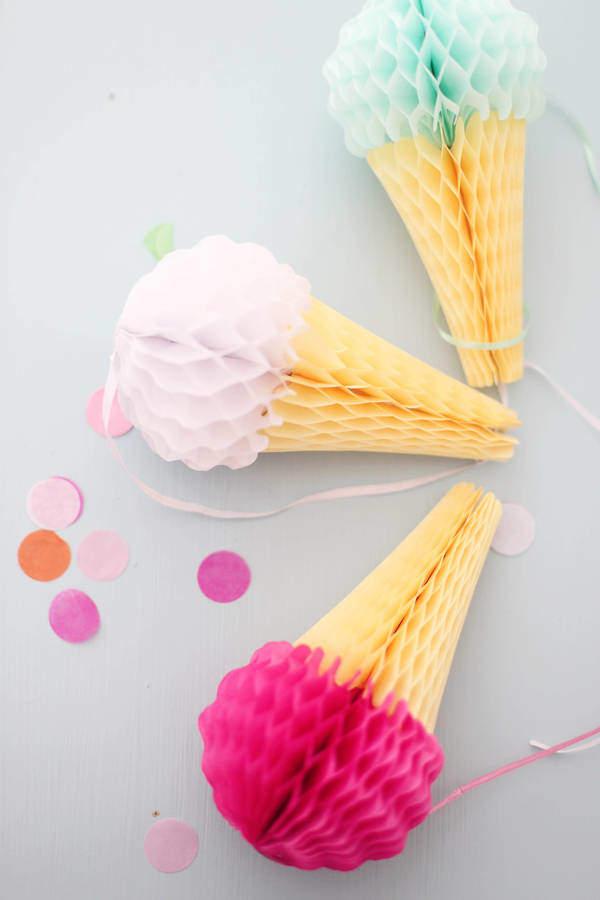 Little Baby Company Ice Cream Honey Comb Decorations