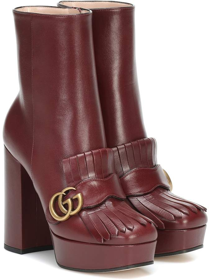 Marmont leather ankle boots