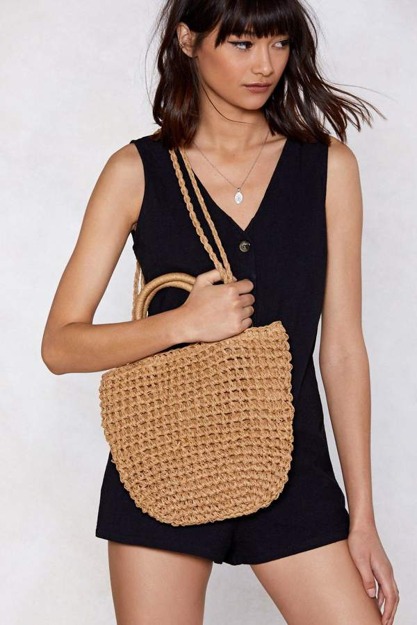 Nasty Gal WANT Straw Your Way to the Top Tote Bag