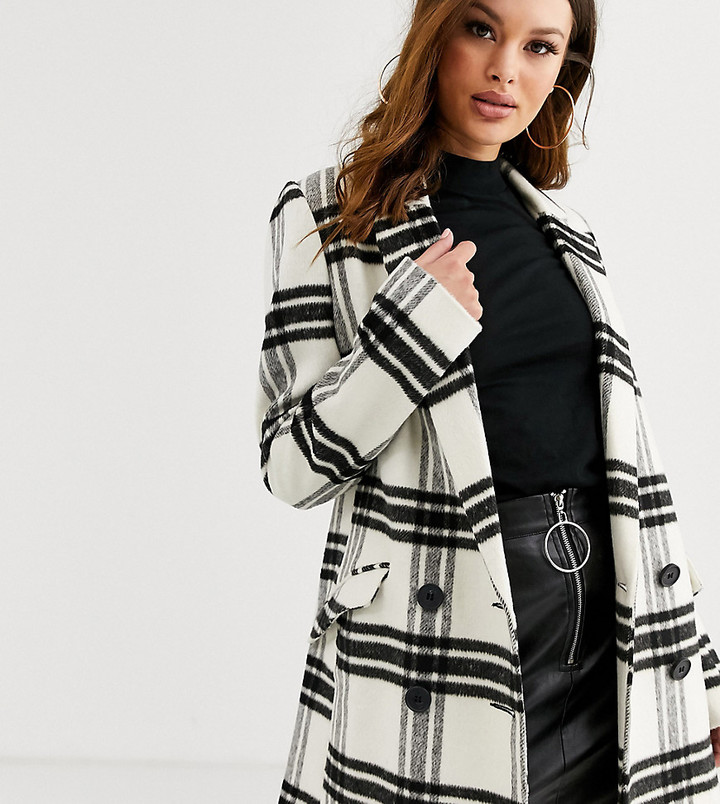 Asos Tall ASOS DESIGN Tall double breasted check coat