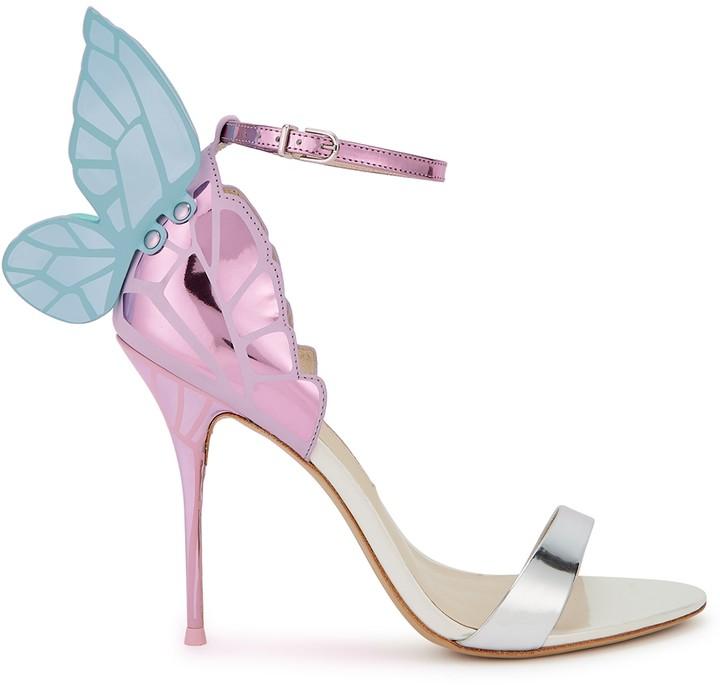 Sophia Webster Chiara 100 Winged Leather Sandals